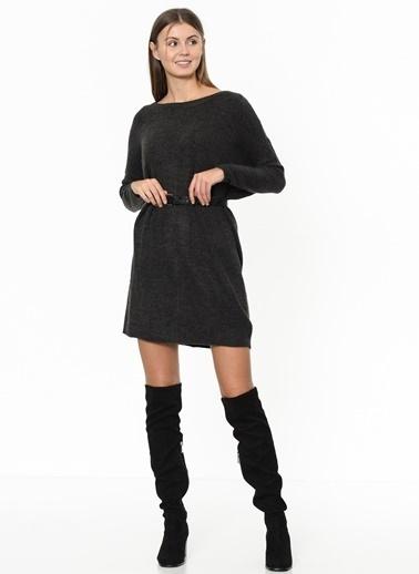 Only Uzun Kollu Mini Örgü Elbise Gri
